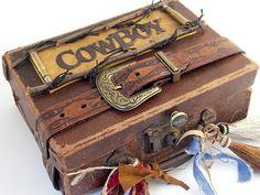 'Cowboy' altered book - storage case
