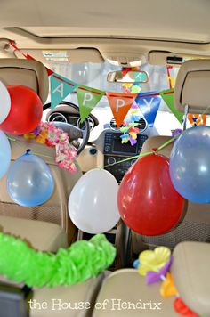 Imagine getting into your car on your birthday and it's fully decorated! Pure delight! Check out these fresh ideas from the House of Hendrix  #kids #birthday