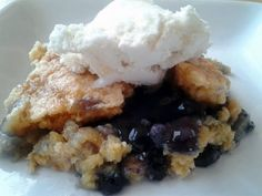 """Dump Cake - """"Agree, surprisingly good!! Made ours with blueberry instead of cherry!"""" @allthecooks #recipe"""