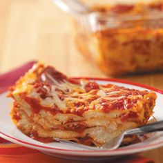 Simple Lasagna--I find that I like simple lasagna just as well as slaving over a pot of bolognese sauce all day.  But I don't believe in no-cook noodles.  :)