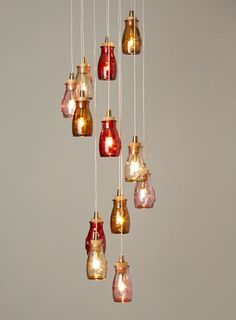 ceiling lights on pinterest jar lights jar chandelier and wine