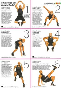 SELF 6 Moves to an Insane Body...i did the insanity workout last year...need to get  back on it