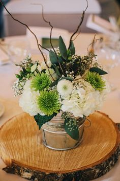Green White reception wedding flowers,  wedding decor, wedding flower centerpiece, wedding flower arrangement, add pic source on comment and we will update it. www.myfloweraffair.com can create this beautiful wedding flower look.