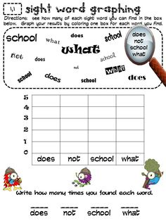 McGraw Hill Reading Wonders 1st Grade:   High Frequency Word Graphing Activity.  My kiddos love this!
