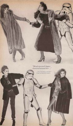 The Force of Fur Vogue November 1977 Photography: Ishimuro
