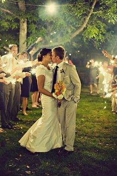 <3 Sparklers for reception exit!