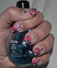 painted nails | Nail Art By Kit » Hand Painted Nail Art Designs