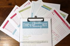 The GARDEN Planning Kit  6 documents  by CleanMamaPrintables