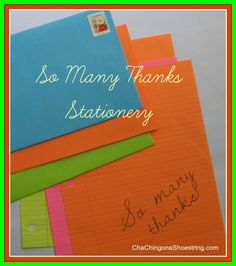 'So Many Thanks' Stationery and Paper Confetti via Cha-Ching on a Shoestring