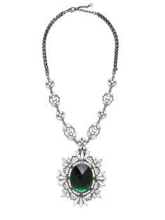 Emerald Vignette Pendant - Necklaces - Categories - Shop Jewelry   BaubleBar