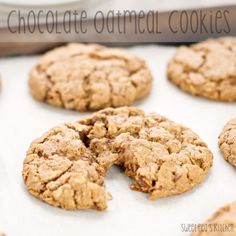 Chocolate Oatmeal Cookies {Sweet Pea's Kitchen}
