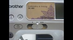 How To Import an Embroidery File to the Brother SE 400 Sewing Machine