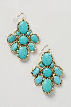Turquoise Sonation Drops - anthropologie.com