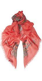 Alexander McQueen impreso modal y bufanda de cachemira-mezcla