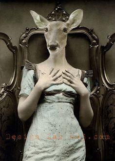 Deer Lucy 5x7 Anthropomorphic print
