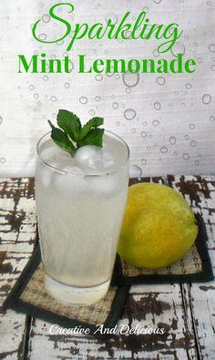 Sparkling Mint Lemonade ~ BEST lemonade !  #Lemonade #Drinks #MintLemonade