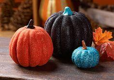 mod podg, holiday, idea, craft, glitter pumpkins, fall, diy, blues, halloween