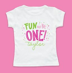 Party One Girl Tshirt: first birthday tshirt, first birthday shirt