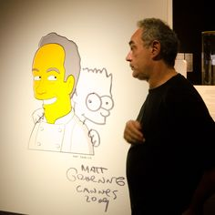 the famous chef as a Simpson's character