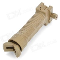 Airsoft Retractable Tactical Rifle Grip Bipod for AR15 / M16 / M4 Carbine - Earthy  Price: $13.90