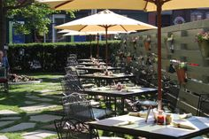 Enjoy Fresh Air & Delicious Fare at our seasonal al fresco Garden Cafe. Each year we have new summer cocktails and delicious menu items!