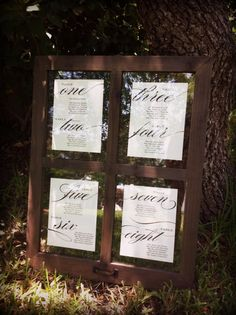 Wedding Seating Chart Table Numbers by paperandlaceaustin on Etsy