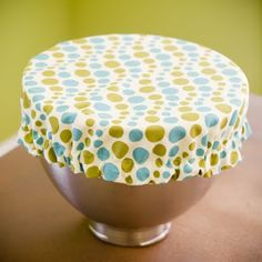 Mixing bowl covers!!! I want to make one! Perfect for rising bread or covering frosting! Mom?