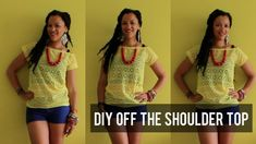 DIY Summer Off The Shoulder Top | Sewing For Beginners