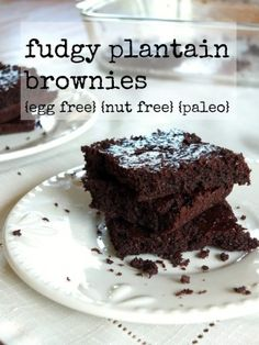 These Fudgy Plantain Brownies look amazing! Paleo, nut-free and vegan. I would use my Homemade Chocolate Chips for these and a low carb sweetener. More Allergy-Free Recipes in the post as well!