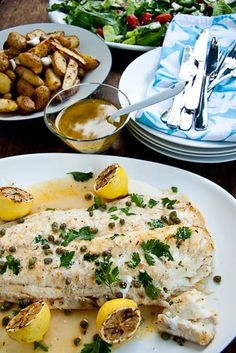 White Fish with Capers & Lemon