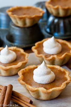 Pumpkin Pie Mini-Tarts desserts, salad, jar recipes, pie minitarts4jpg, mini pies, families, family recipes, pumpkin pies, mini tart