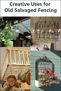 DIY::Creative Projects for old salvaged fencing - LOVE THESE!