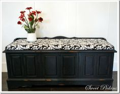 idea for the cedar chest I have. Paint it? Make a seat cushion?