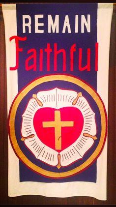 Banner at Concordia Lutheran Church, Triangle, VA