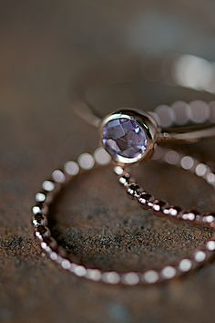 rose gold ring with amethyst