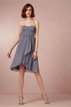 Alice Bridesmaids Dress in steel blue from BHLDN
