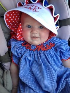 Hotty Toddy Gosh almighty   how adorable is she?!!  Ole Miss Beaufort #Bonnet