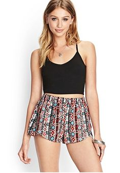 Need a down-to-earth look? How about these #tribal print #shorts? #highwaisted