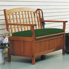 Outdoor 4' Deceivingly Pretty Patio Storage Bench