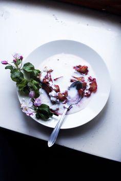 Oven roasted rhubarb with cinnamon  cardamom, served with yoghurt | Suvi Kesäläinen