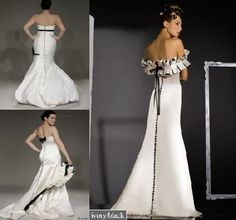 purple and white wedding gowns