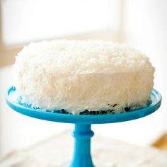 Coconut cake with a seven-minute frosting