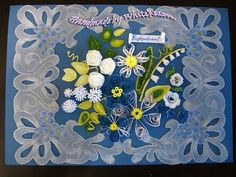 WhiteRacoon's handcrafts blog: Passport cover and a pergamano-quilling card