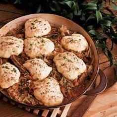 Ribs, sauerkraut, and dumplings