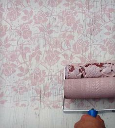 Sweet Sea Roses Design Patterned Paint Roller