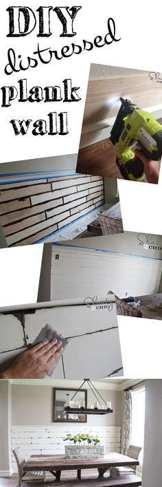 Very EASY DIY Distressed Plank Wall! Love this!!!