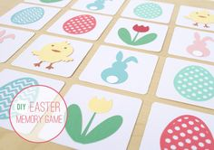 DIY Easter Memory Game (perfect for kids easter baskets or to mail!) #Silhouette