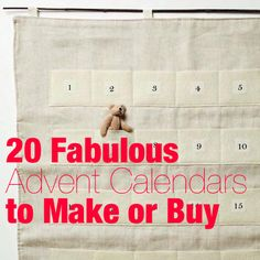 Modern Parents Messy Kids: It's Almost December, Do You Have an Advent Calendar Yet?