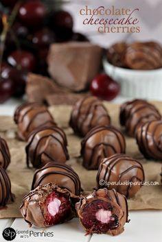 Chocolate Covered Cheesecake Cherries!