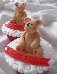 Teddy Cupcakes. by Bubba's Bakery, via Flickr
